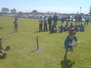 Junaid running his first homerun in his first ever TeeBall match